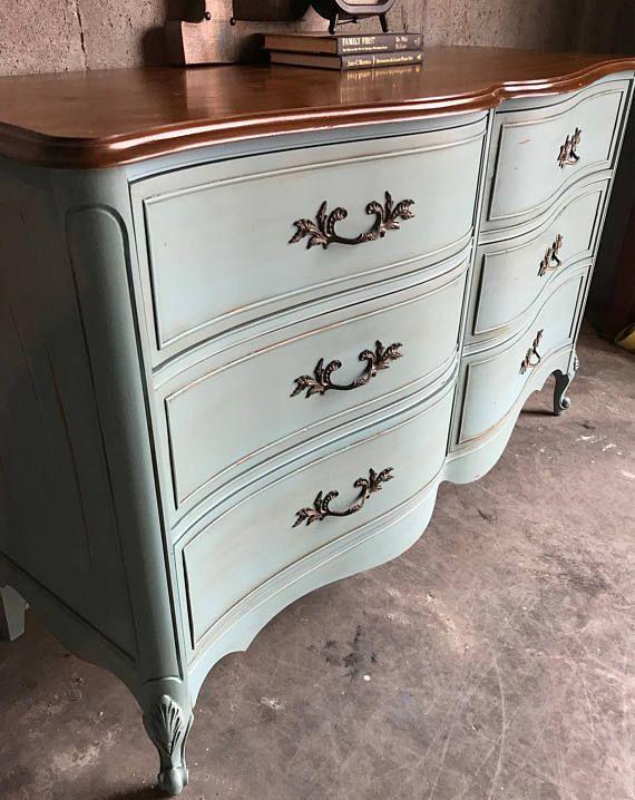 French Provincial Dresser Duck Egg Blue Antique Dresser Bedroom