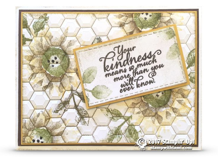 ONLINE CLASS & VIDEO: How to make Hexagon Painted Harvest Card and Rectangles from Square dies | Stampin Up Demonstrator - Tami White - Stamp With Tami Crafting and Card-Making Stampin Up blog