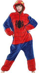 Spider-Man Onesie Pajama Costume - http://www.thlog.com/spider-man-onesie-pajama-costume/