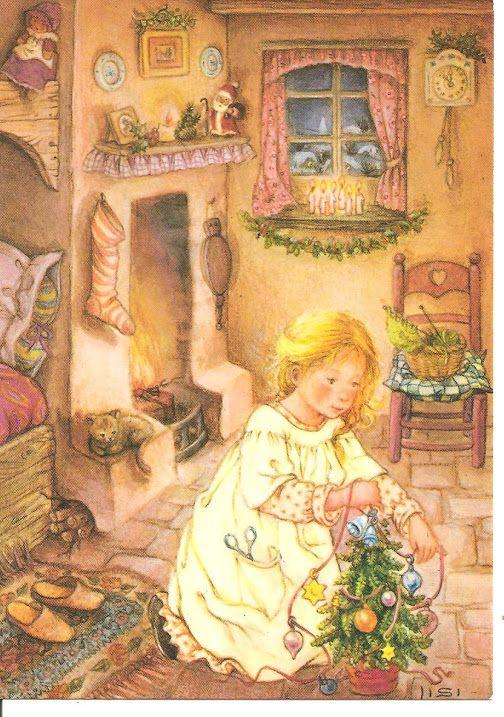 Preparing for Christmas.  Lisi Martin