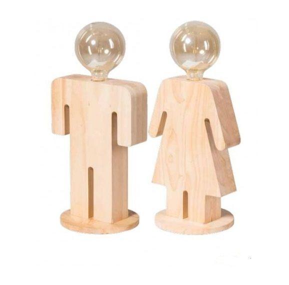 Leuk setje tafellampen voor in de slaapkamer. Deze Adam & Eva staan prachtig op een nachtkastje of dressoir. De #houten #tafellampen hebben de vorm van een manfiguur en een vrouwfiguur. Een eenvoudige en strakke design. Bekijk deze mooie houtman en houtvrouw bij van de Pol Meubelen.