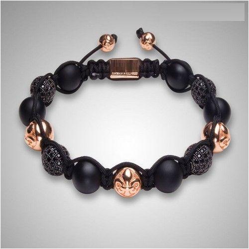 Fashion-Jewellery-Black-Pearl-Gold-Crystal-Shamballa-Bead-Bracelet-MODEL-2013