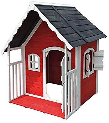Spielhaus Villa für Kinder Holz Veranda Kinderspielhaus
