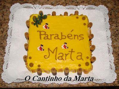 O Cantinho da Marta: Bolo Colchão de Noiva com Creme e Massa Folhada
