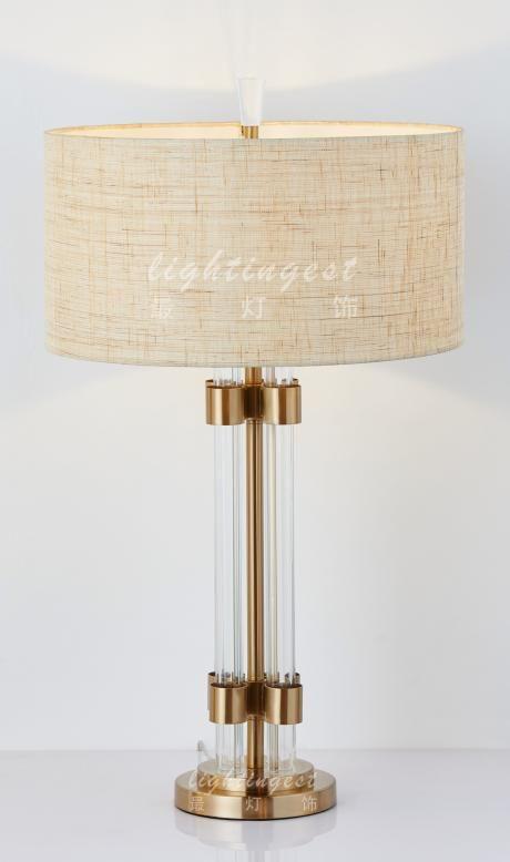 American French Mediterranean desk lamp【最灯饰】美式法式地中海玻璃铜新款台灯