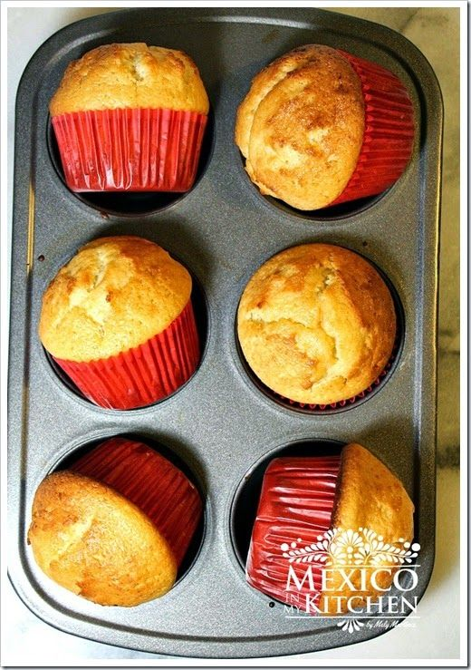 Mantecadas, mexican muffins, perfect for breakfast with a glass of milk.