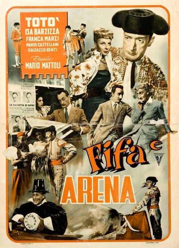 """Mario Mattoli's comedy """"Fifa e arena"""" (Italian title: """"Fright and Sand""""; 1948), starring Totò (Antonio De Curtis), Isa Barzizza and Franca Marzi."""
