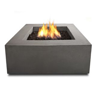 Real Flame Baltic Square Concrete NG Fire Table - Overstock™ Shopping - Great Deals on Real Flame Fireplaces & Chimineas