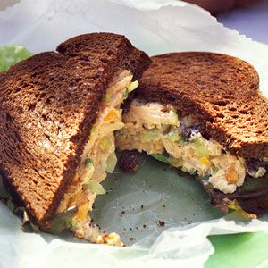 No-Cook Dinners  | Apricot-Nut Turkey-Salad Sandwiches | MyRecipes.com