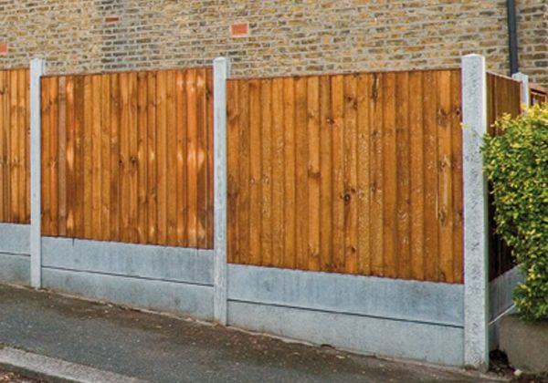 how to fix fence panels to wooden posts