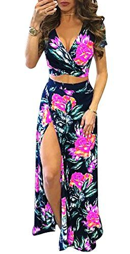 New Wancy Women's Crop Top Maxi Skirt Set 2 Piece Set Outfit Party Long Beach Dress online. Find great deals on Zeagoo Dresses from top store. Sku owed63245rmlf32333