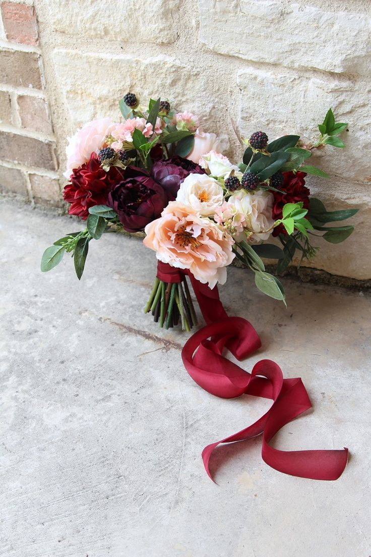 Modern romance faux flower keepsake bouquet by Southern Girl Weddings See more here: https://www.etsy.com/listing/536455911/modern-romance-deep-burgundy-and-rose