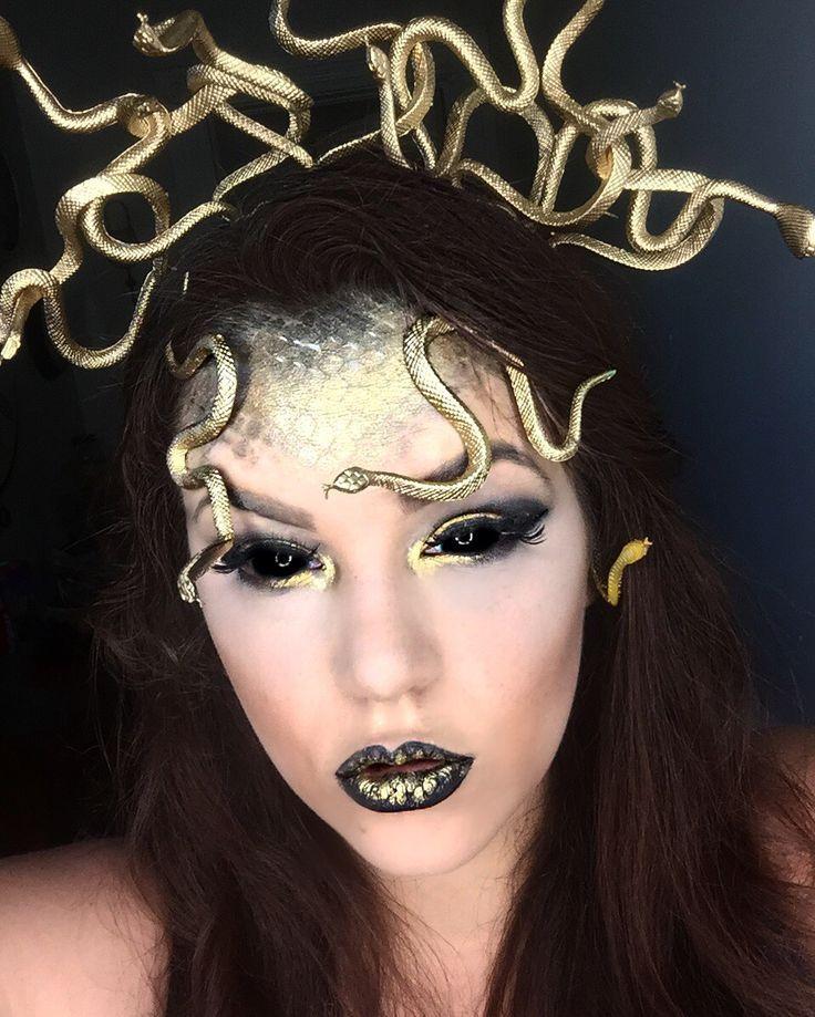 Medusa Makeup @holleywood_hills                                                                                                                                                                                 More