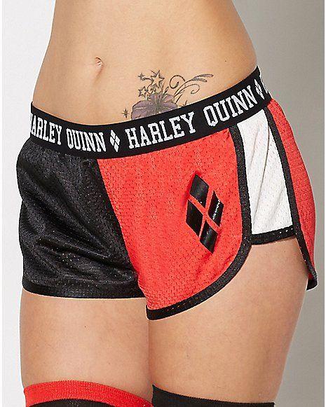 Harley Quinn Mesh Shorts - Spencer's
