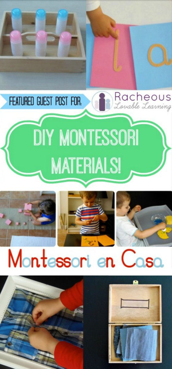 DIY Montessori materials for home via Montessori en Casa for Racheous - Lovable Learning