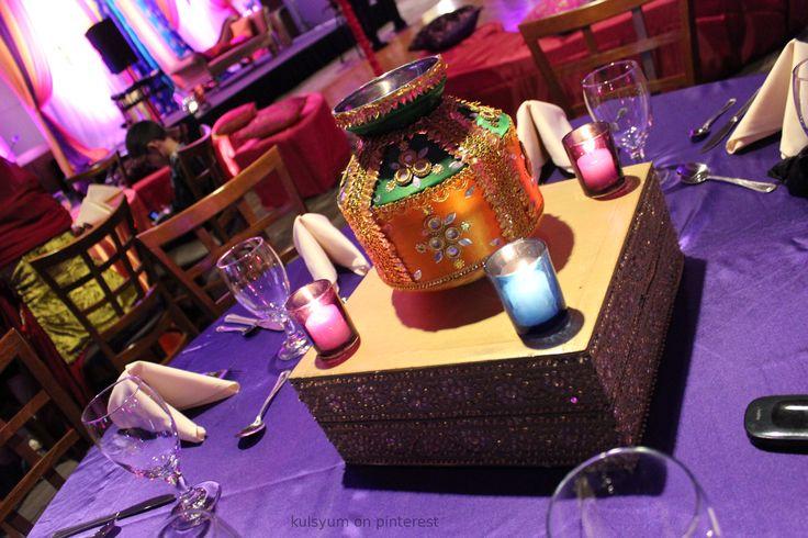 Indian wedding decor for a Garba, sangeet or mehendi