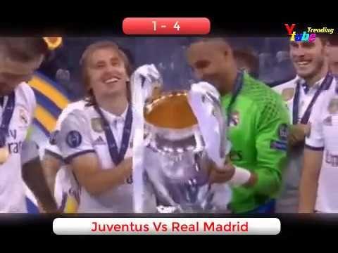 Trending Sepak Bola Juventus vs Real Madrid 1-4  Juara Eropa 2017 All Go...