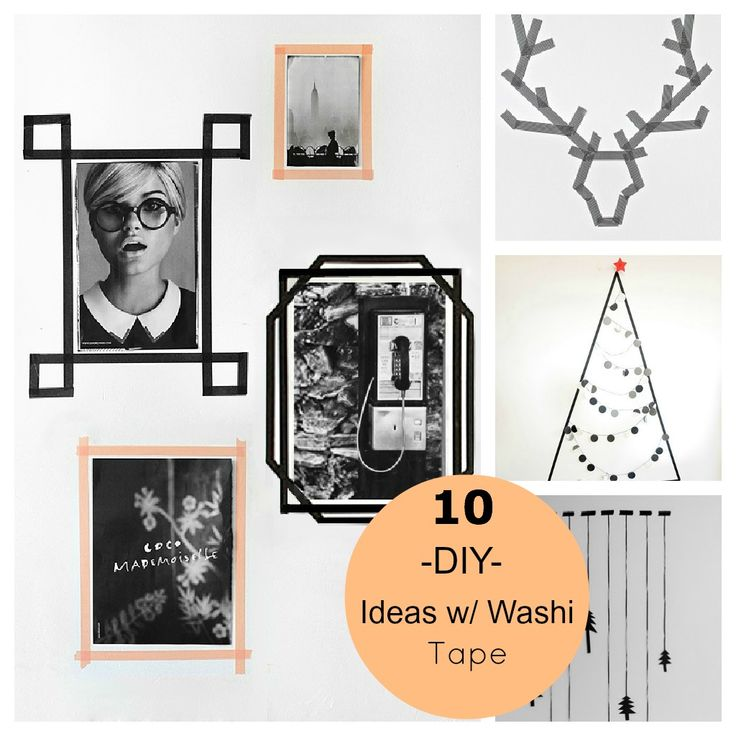 10 Christmas & Decor DIY Ideas With Washi Tape. Love the picture frames. Will get some tape and make my own at the new place :-)