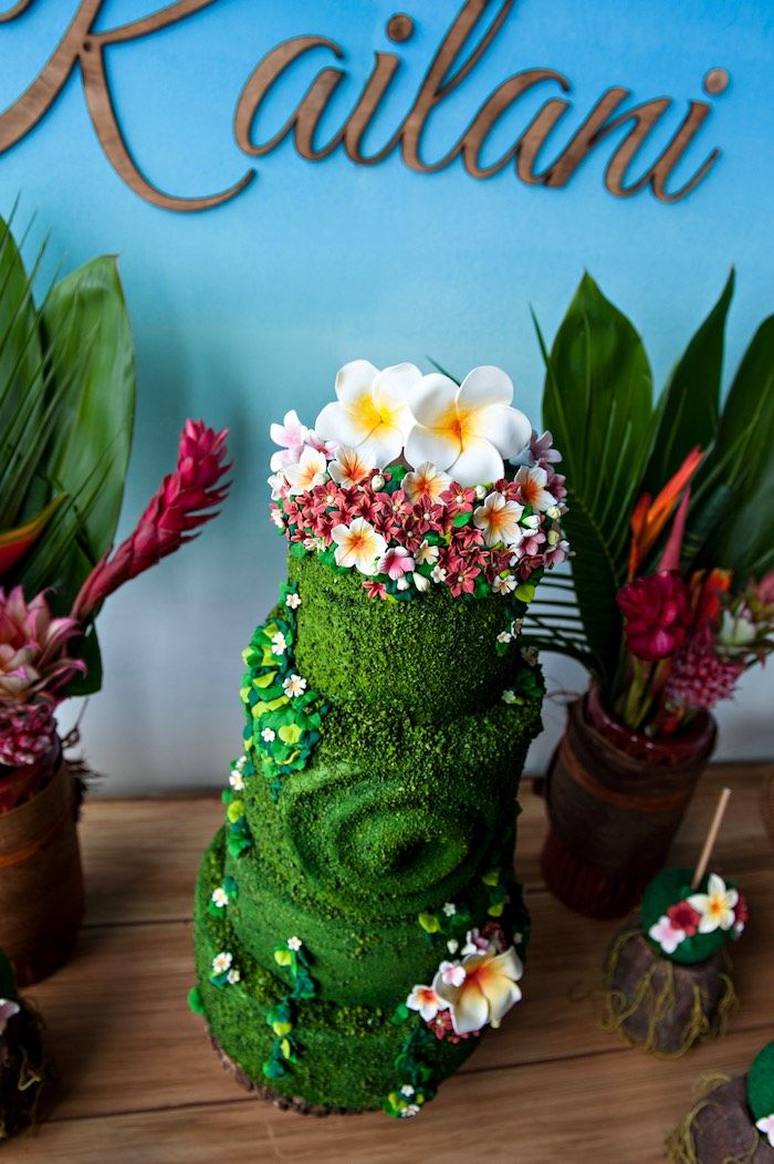 Island cake from a Moana Inspired Birthday Party on Kara's Party Ideas | KarasPartyIdeas.com (12)