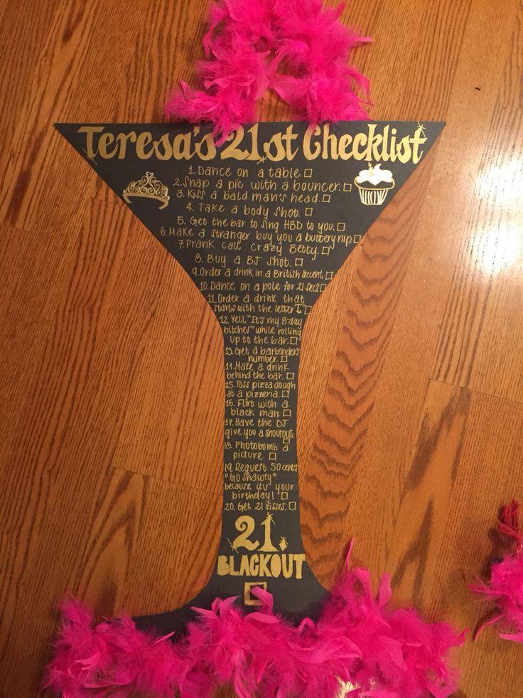 21st birthday checklist, 21st birthday ideas, creative birthday ideas, 21st birthday