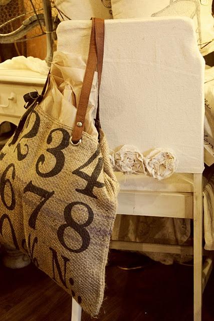 lovely burlap bag