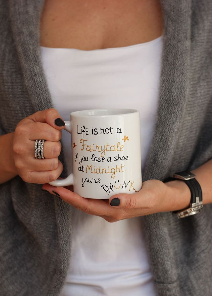 Unique Cup Gift For Friend Mug Gift For Her Drunk Quote Mug Personalized cup Mug with Sayings Funny Cup Handpainted Mug Gift For Christmas