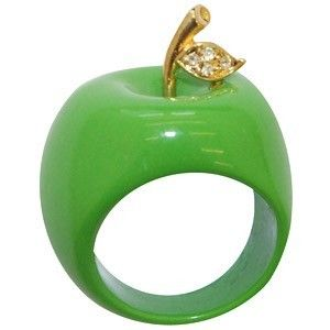 Apple green ring.