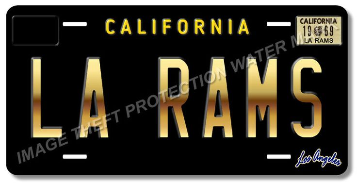 LA RAMS Los Angeles California NFL Football Team Vanity License Plate Tag 9