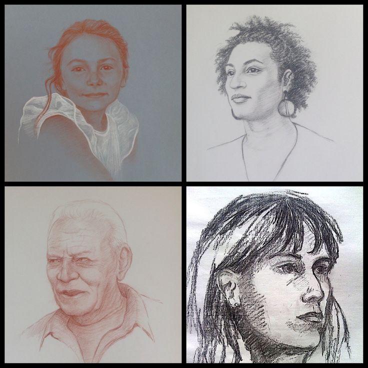 Exemples de portrait d'après photo, par l'artiste ...