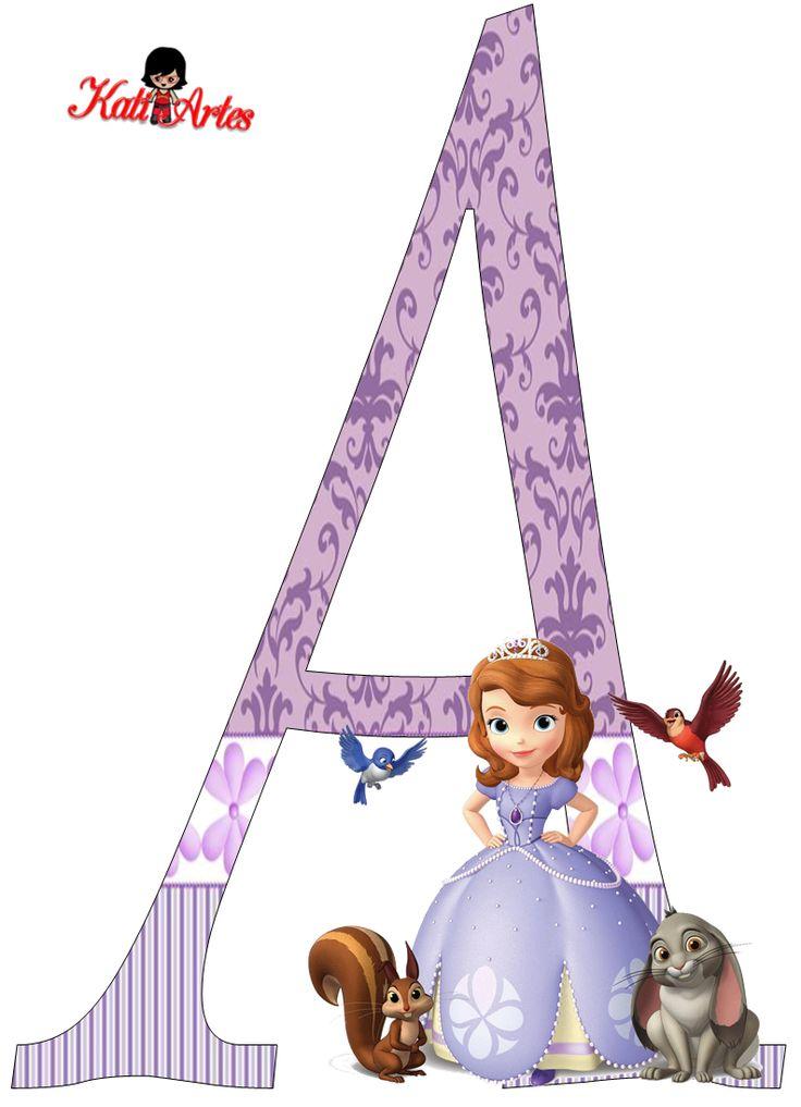 Lindo Alfabeto de Princesa Sofía.   Oh my Alfabetos!