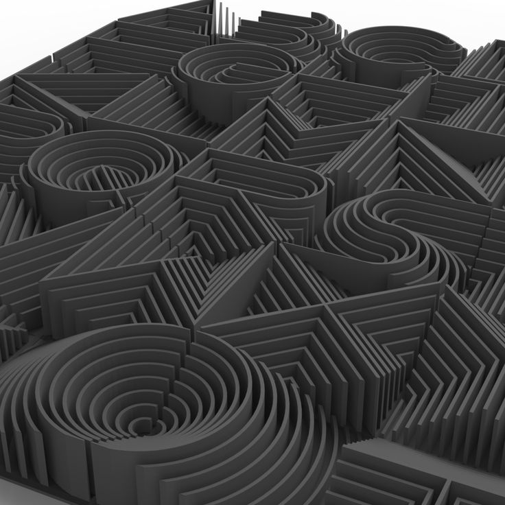 3D Printed Alphabet