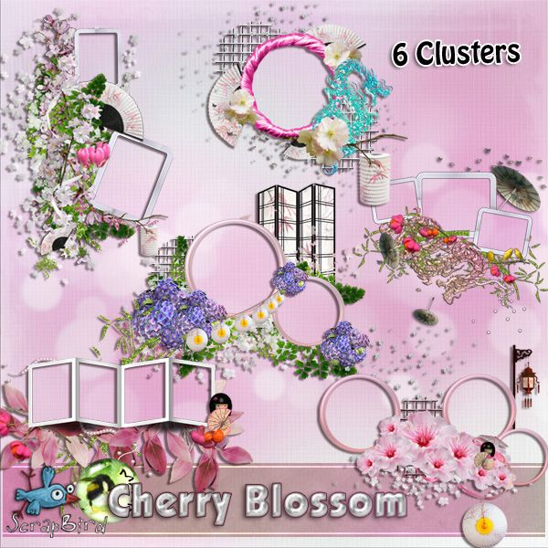 Cherry Blossom CLUSTERS by Marie