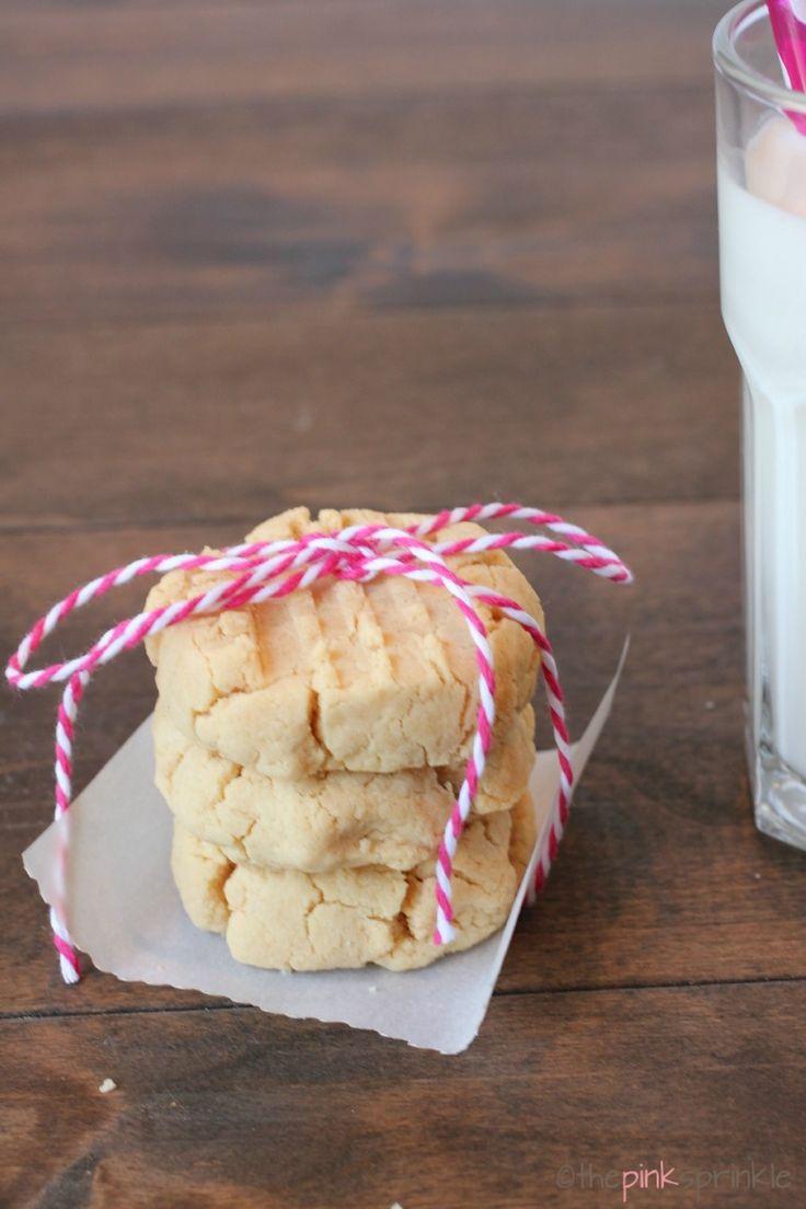 Coconut Flour Shortbread Cookies - the pink sprinkle
