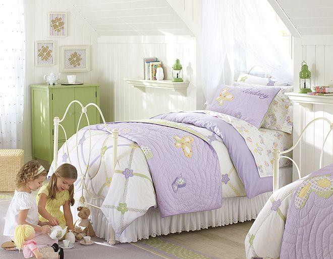 I Love The Pottery Barn Kids Lindsey Lavender Butterfly