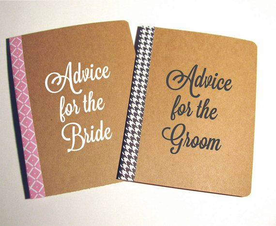 Advice for the Bride And Groom Notebooks Guest by Loopsanddots, $10.00