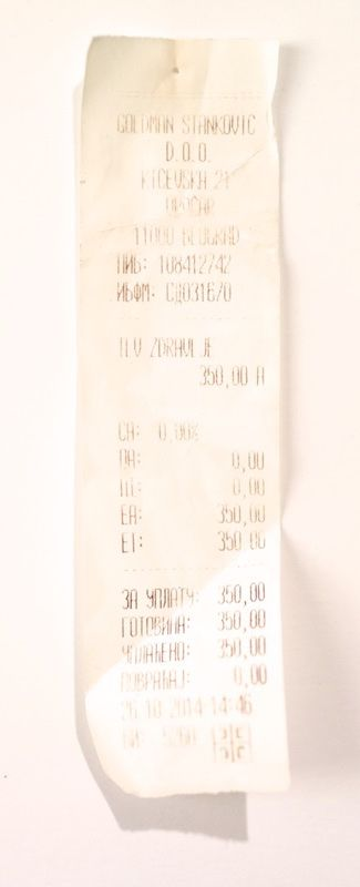 A long fading check from Belgrade.