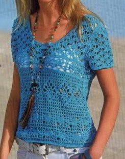 PDF Pattern only  a crochet spring/summer blouse by AsDidy on Etsy.