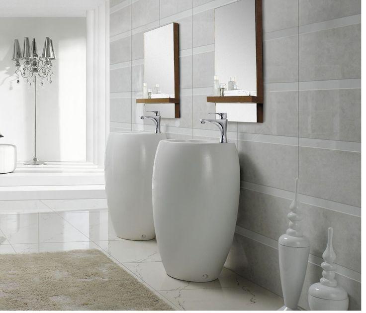 Outstanding Modern Pedestal Sink Design Ideas. Enchanting Modern Pedestal  Sink Design With White