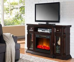 60 Quot Espresso Console Electric Fireplace From Big Lots 399