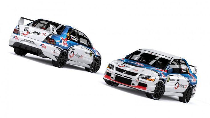 M. Ehl - M. Pecina (Mitsubishi Lancer Evo IX) - design and wrap. First seen at Rally Kostelec nad Orlicí 2012.