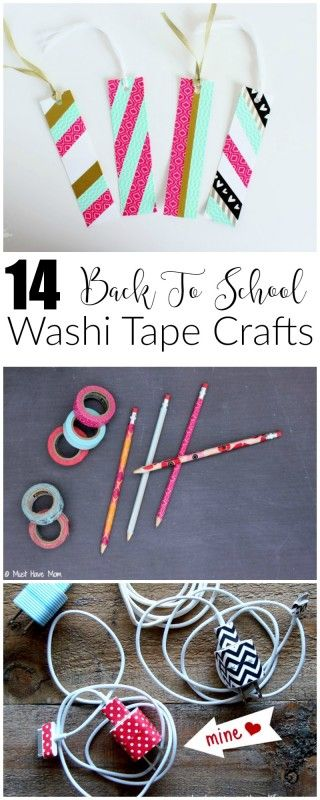 14 creative back to school crafts using washi tape