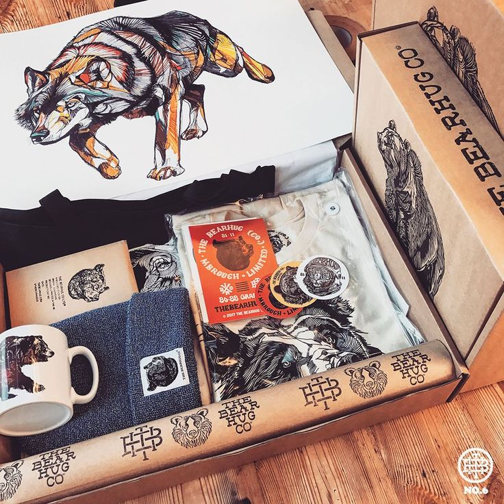 Bear Box - £64.95 - inc. A2 Print, Tee, Mug, Stickers, Tote & Beanie