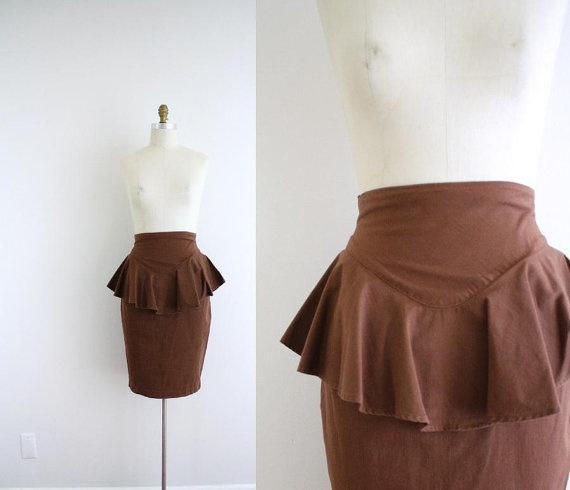 Love love love peplum skirts and dresses.