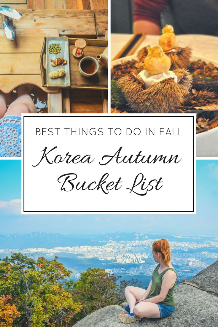 Korea Autumn Bucket List: The Best Things To Do in South Korea During Fall Season http://lindagoeseast.com/2017/10/26/korea-autumn-bucket-list-best-things-south-korea-fall-season/