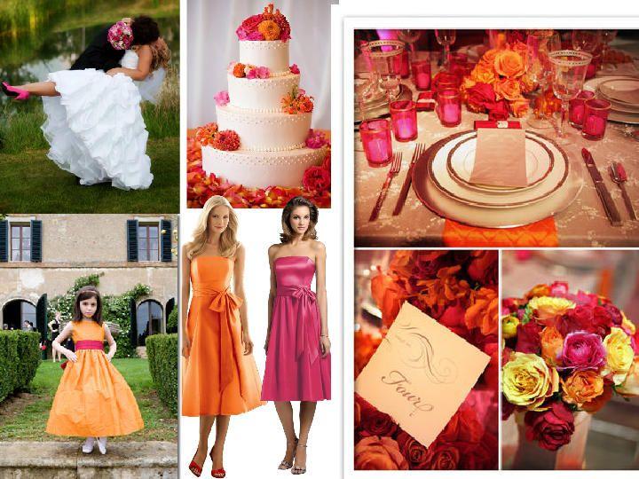 Wedding Decoration Ideas Pink And Orange Choice Image - Wedding ...