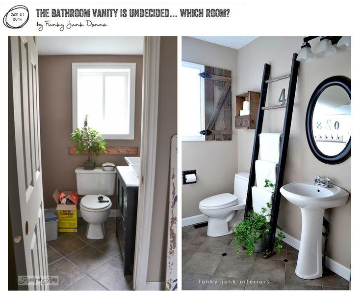 211 best funky junk blog posts images on pinterest for Funky bathroom vanities