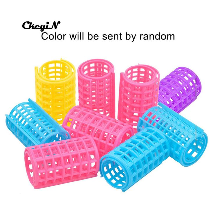 12pcs Plastic Makeup DIY Hair Roller Curlers Clips 36*68mm Colorful Hair Styling Tools Flexi Rods for Girls Hair Clips HS63_8415
