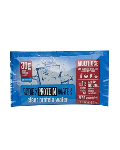 InnerOrigin - BODIE'z Clear Protein Powder offers 30g of available protein in every serve in a versatile Unflavoured version, which is designed to be mixed. Try it in juices, cordials, salad dressings, muesli, tea, soup and more.      BODIE'z Protein Water, developed and manufactured in Australia, uses only the highest quality whey protein isolate to deliver protein to the body in a great tasting clear liquid drink.      BODIE'z Protein Water is unlike any other protein drink on the market…