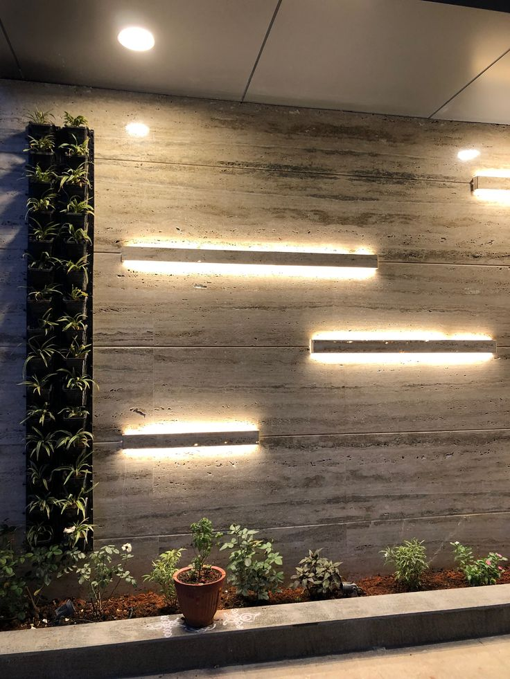 Travertine Marble Cladding Wall Pattern Strip Lighting