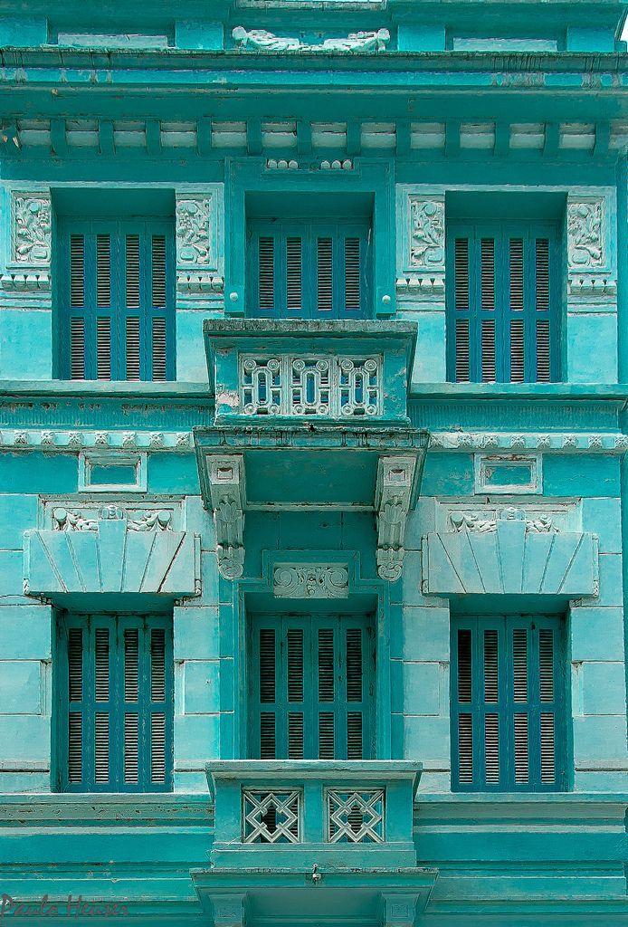 "chasingrainbowsforever: "" ""Facade in Blue, Porto Alegre, RS, Brazil"" ~ Photography by Paulo Heuser """